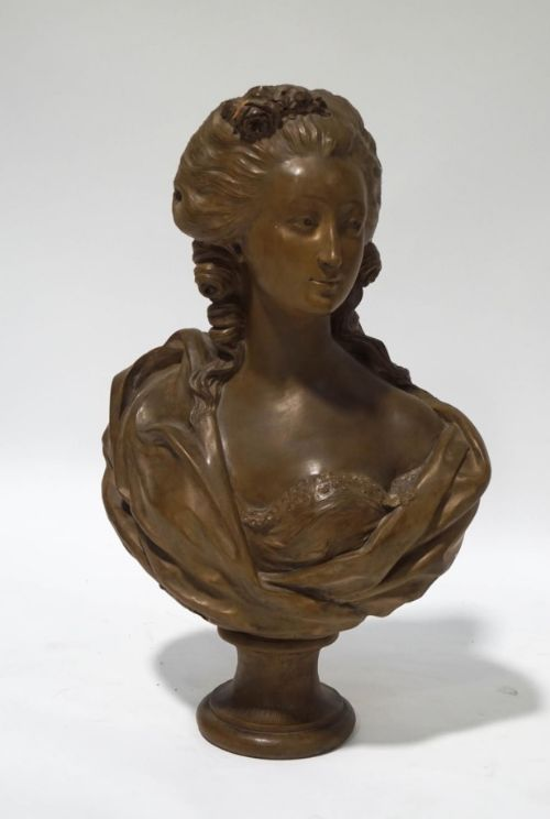 augustin pajou royal sculptor 17301809 bust of a young womn