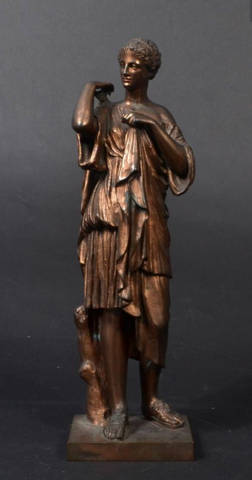 r sauvage diane de gabies c19th bronze