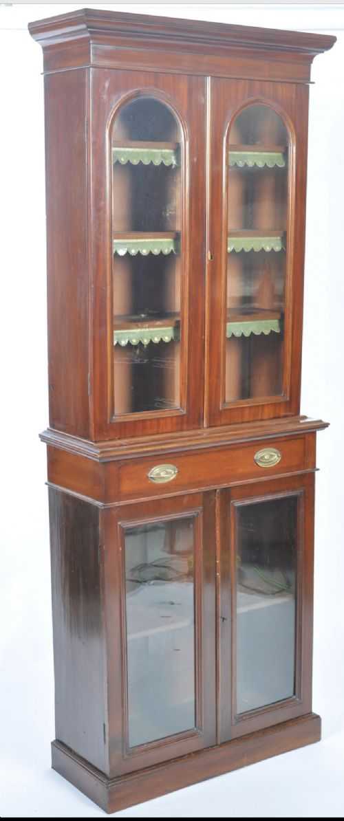 a small narrow c19th library bookcase