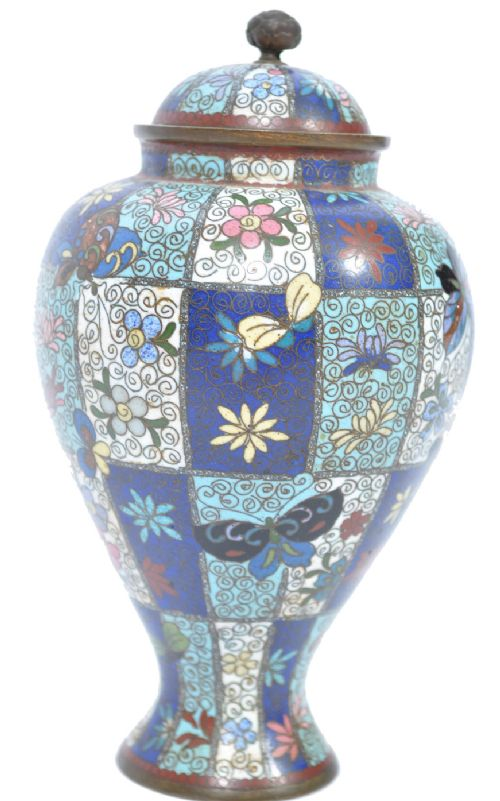 c19th cloisonn vase