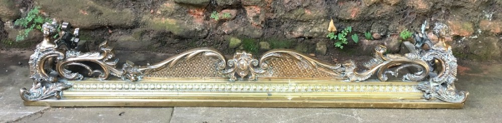 quality c19th brass and bronze fender