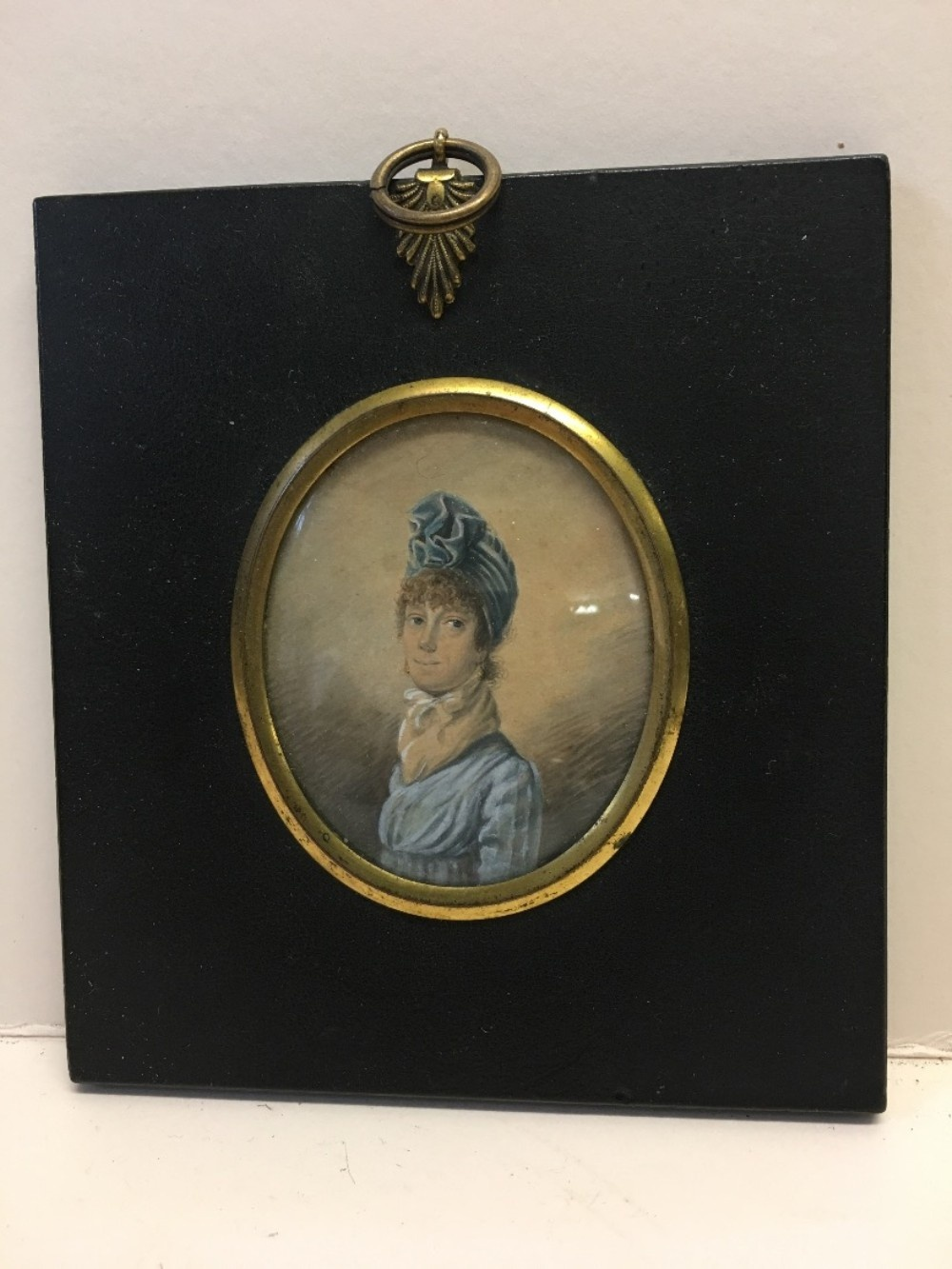 miniature on ivory in frame