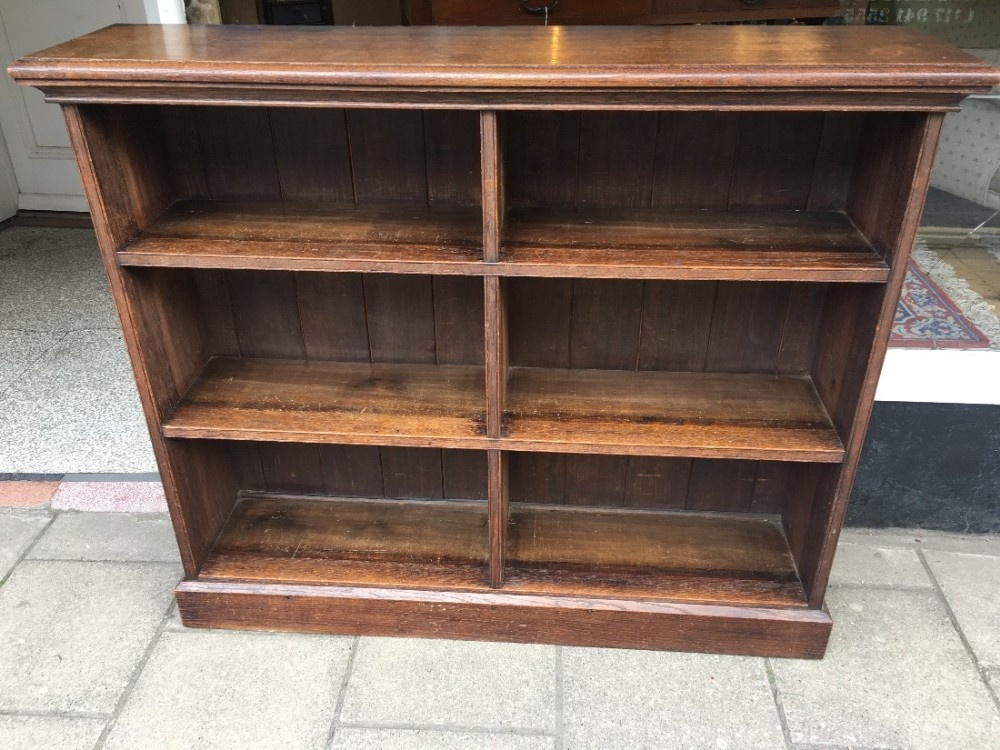 c19th oak two section oak bookcase