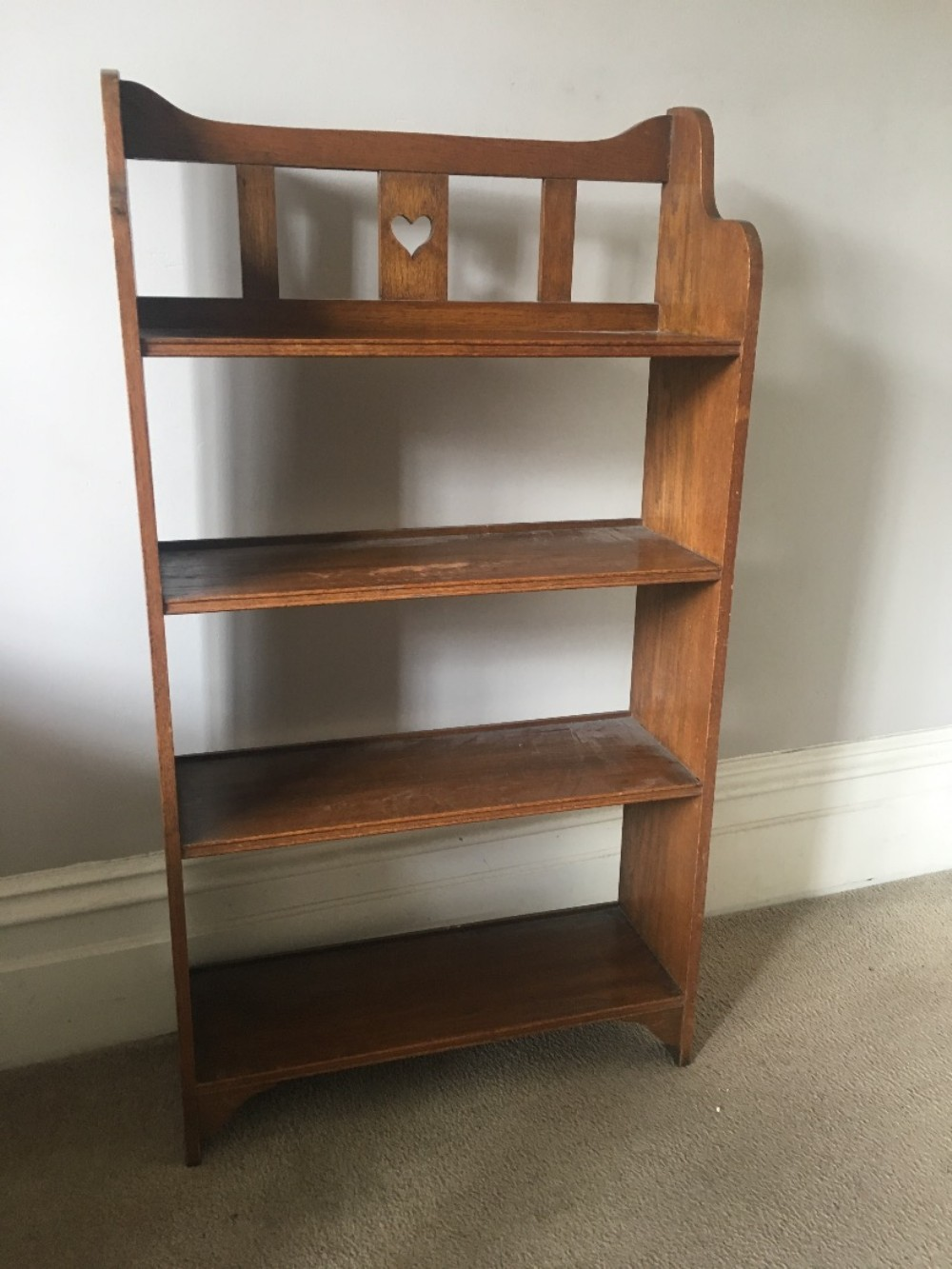 arts and crafts oak small bookcase