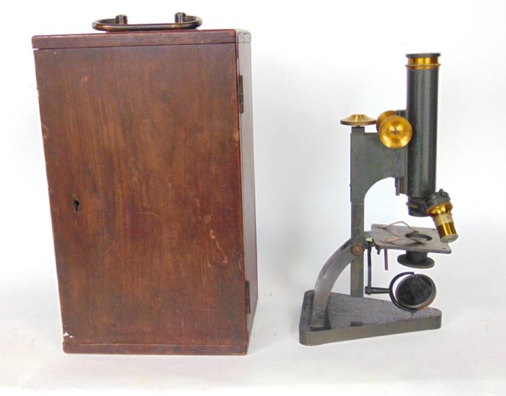 r j beck ltd of london cased microscope