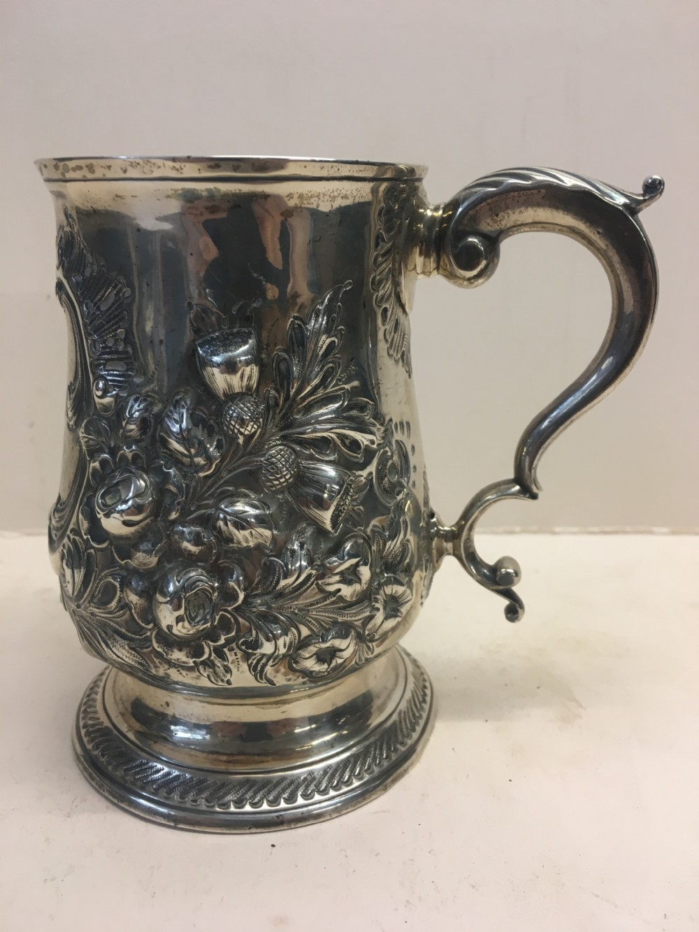 silver hall marked tankard with inscription of bristol interest