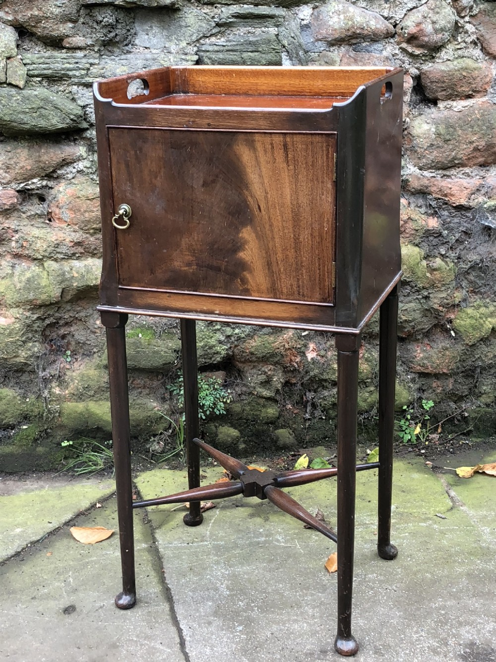 c19th tray top bedside cupboard