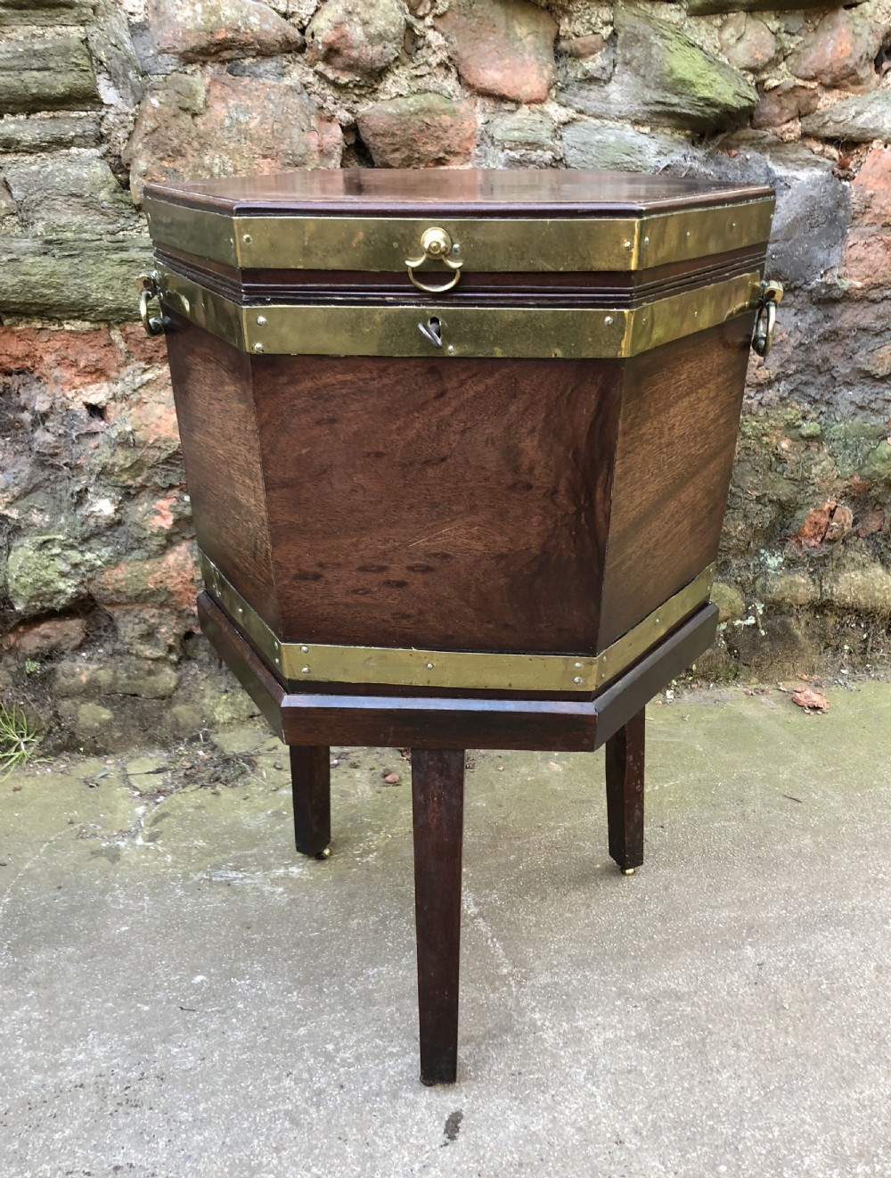 a georgian mahogany brass bound wine cooler