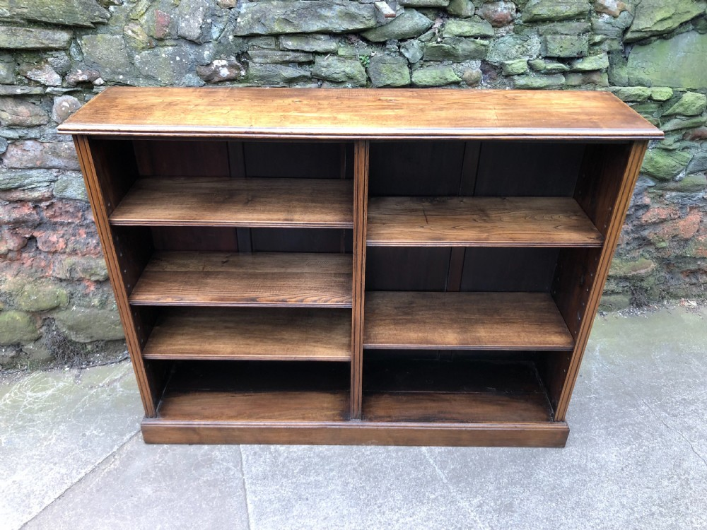 two section oak bookcase