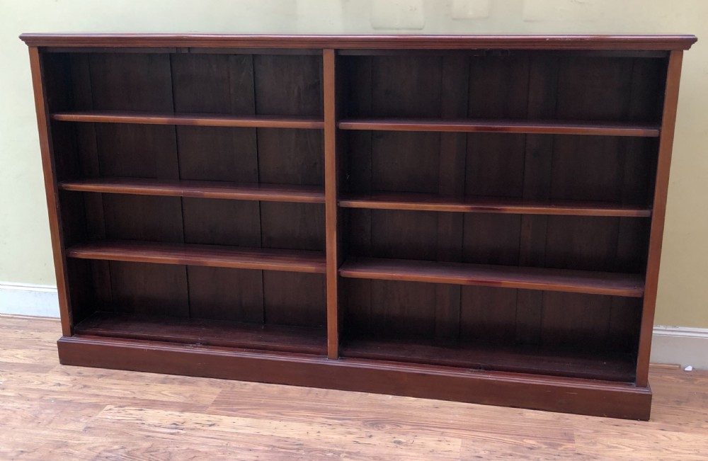 edwardian large floor two section bookcase 220 cms wide