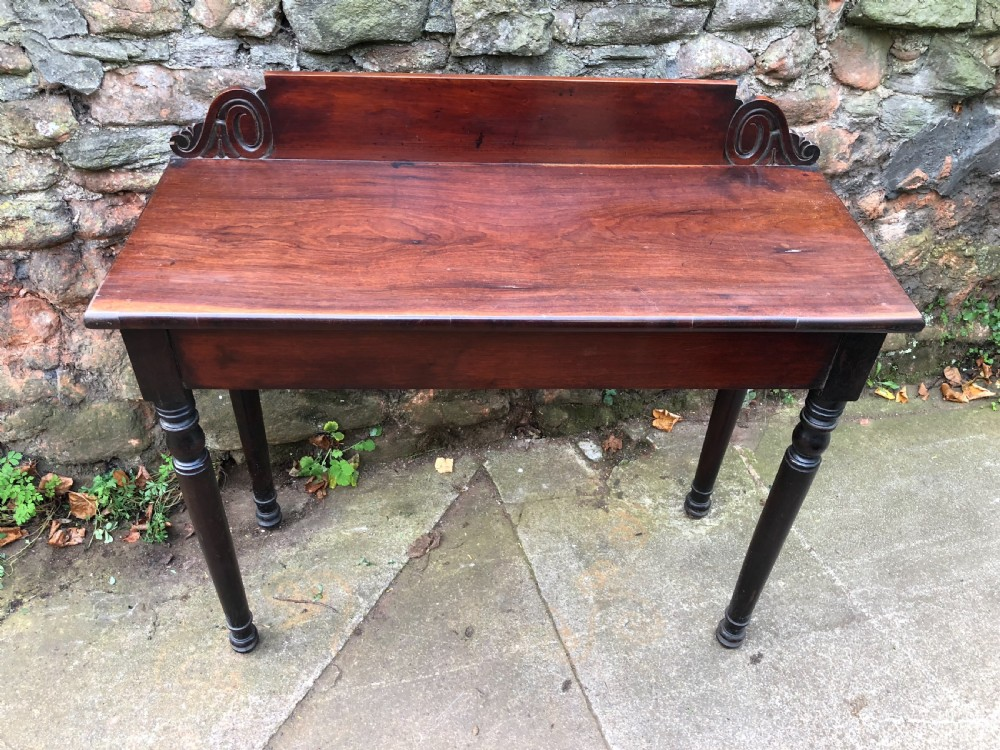 c19th rosewood hall table of small size