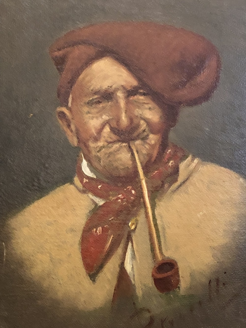 oil painting on board a petrocelli 18561926
