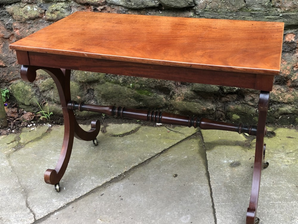c19th mahogany small side writing table