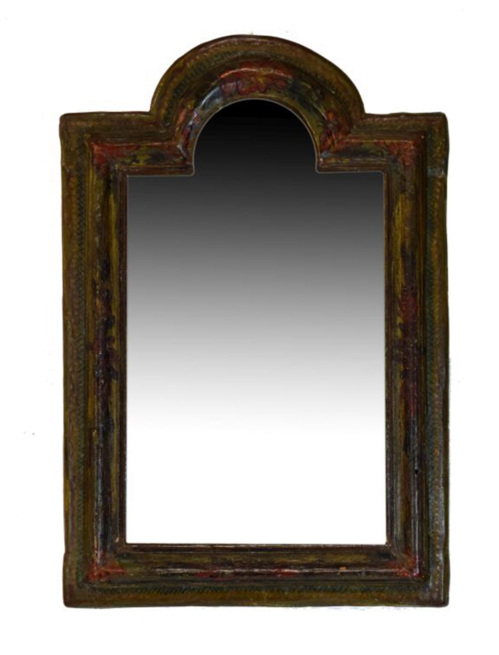early c18th painted small painted mirror