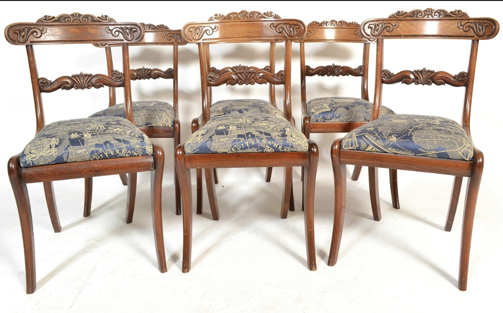 c19th set of six chairs in the gillows manner
