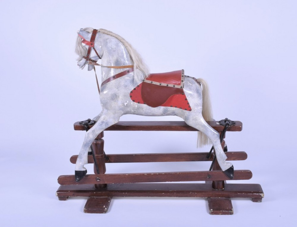early c20th painted rocking horse