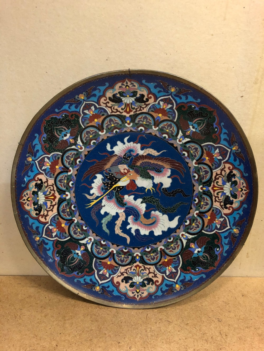 c19th japanese cloisonn charger