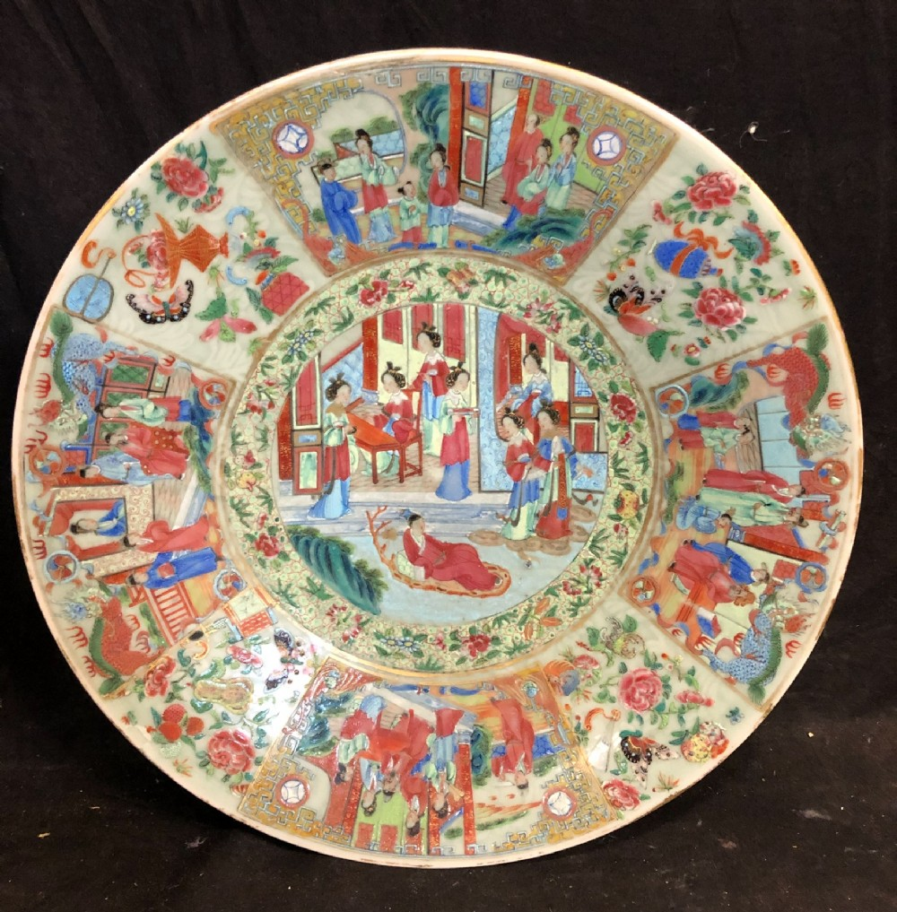 large chinese famille rose medallion charger 41 cms