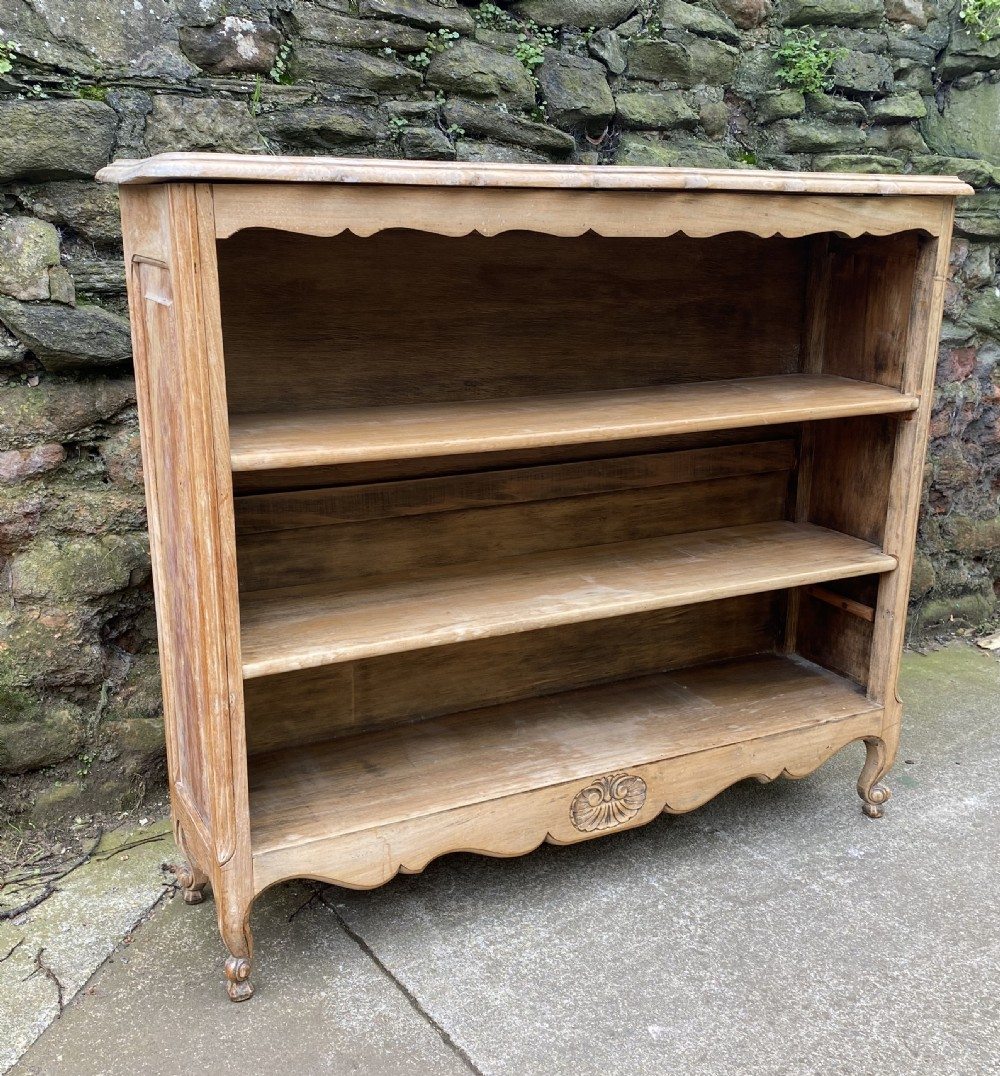 c19th small french chestnut bookcase