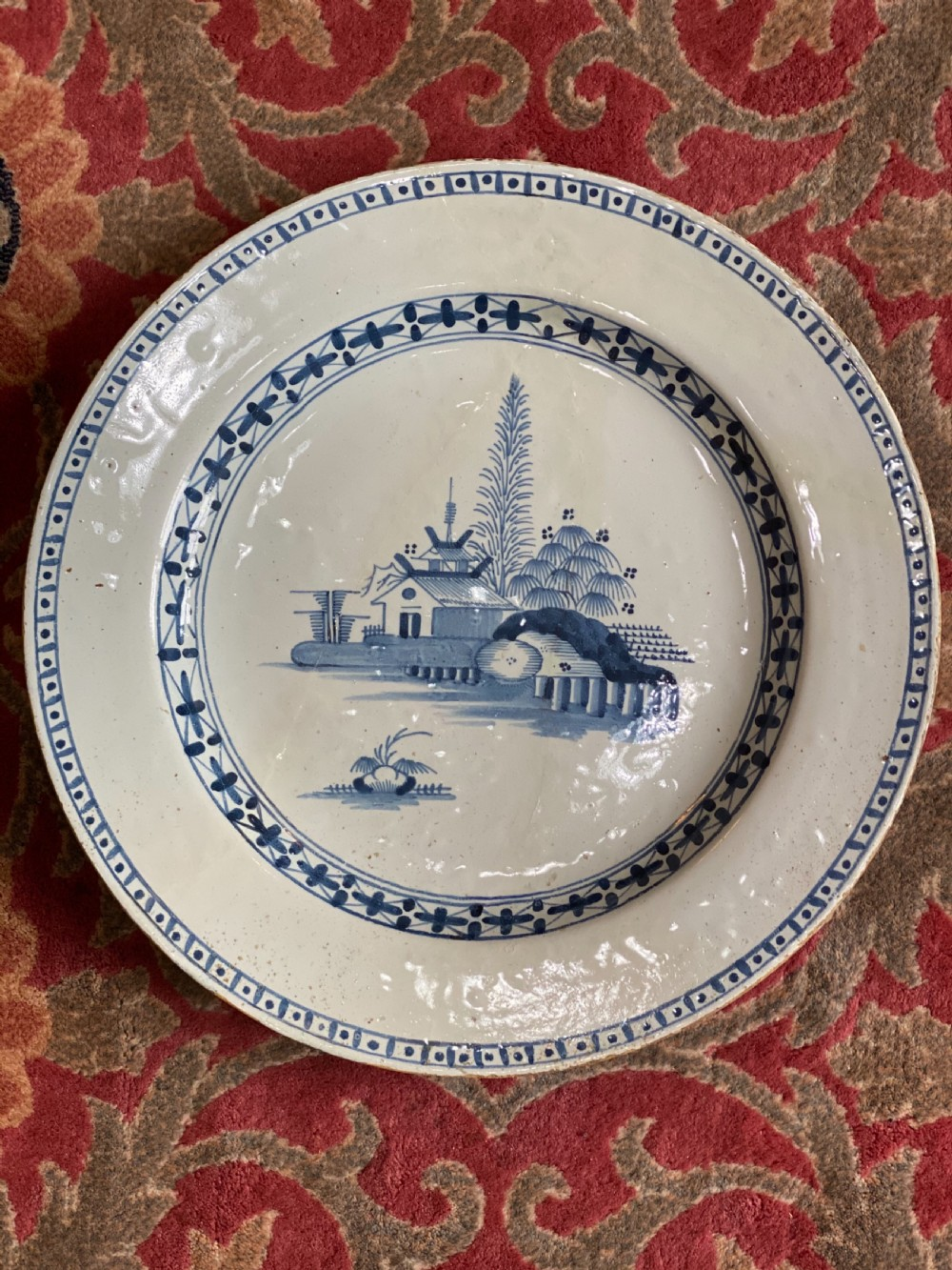 c18th bristol delft charger