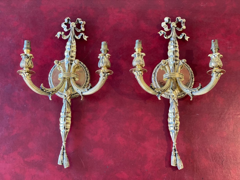 edwardian pair of wall lights